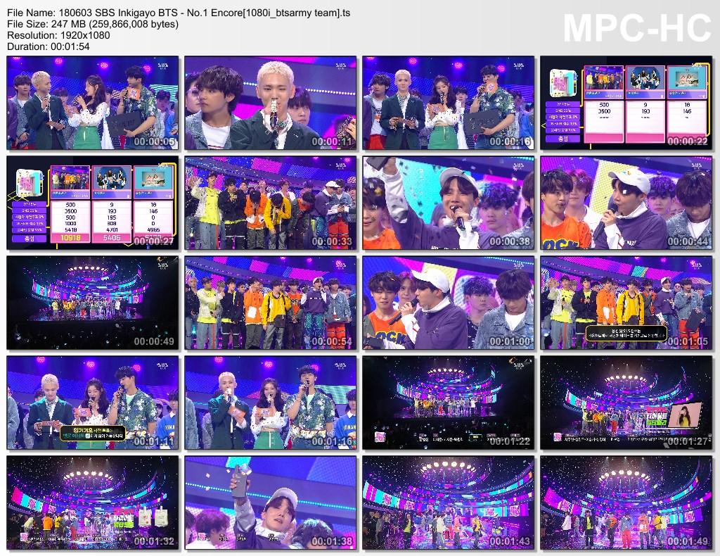 8rj3 180603 sbs inkigayo bts   no.1 encore[1080i btsarmy team].ts thumbs - BTS AT  SBS Inkigayo [180603] #FAKELOVE8THWIN